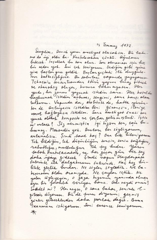 Mektup Örnekleri - Edebi Mektup (C. Süreya)