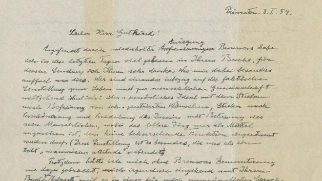 Mektup Örnekleri - Felsefi Mektup (A. Einstein)