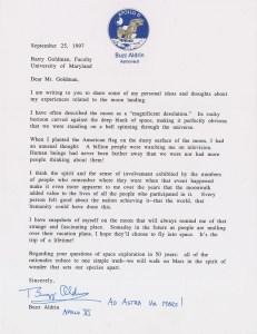 Buzz Aldrin - mektup